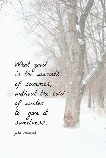 John Steinbeck Winter Quote Stretched Canvas by KimberosePhotography | Society6