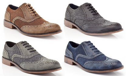 image for Henry Ferrera Men's Lace-Up Casual Oxford Shoes