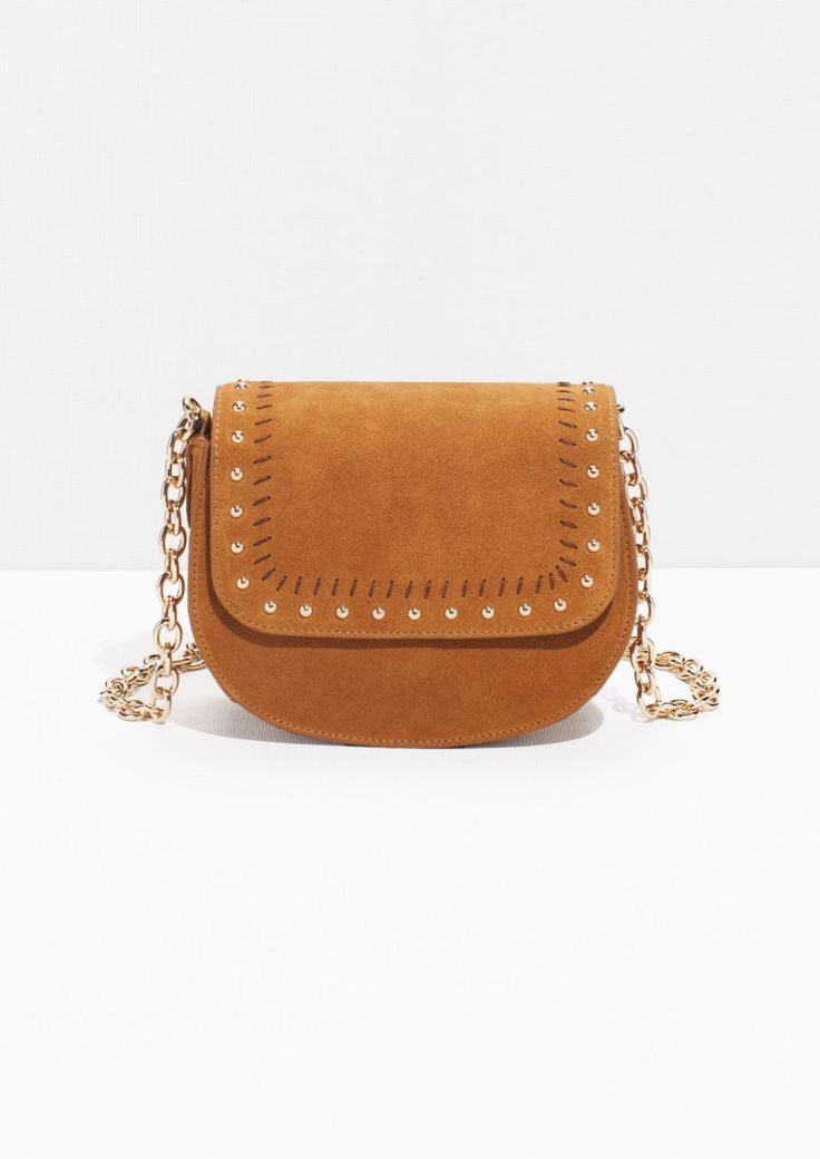 & Other Stories | Studded Suede Shoulder Bag