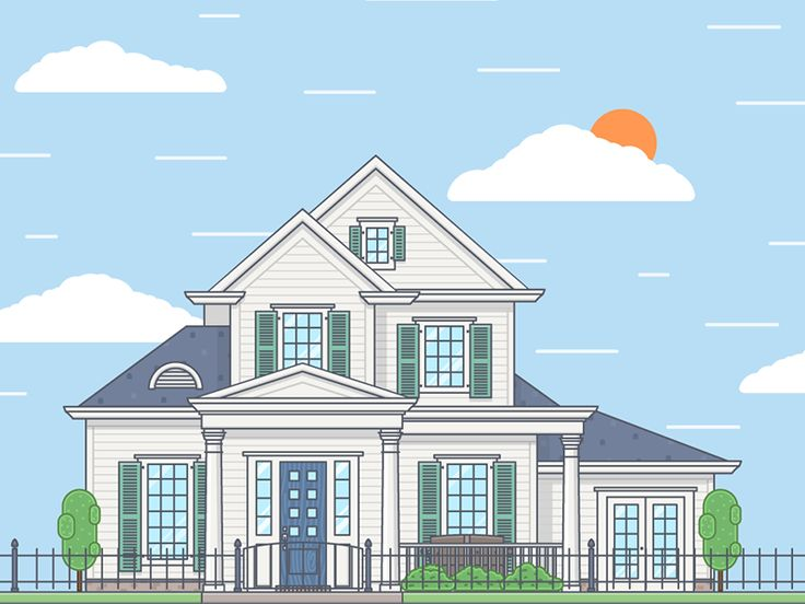 Dribbble - House by FireArt Studio
