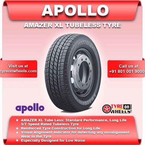 Buy Online APOLLO Tubeless Car Tyres & get fitted by Mobile Tyre fitting Vans at your Doorstep at Guaranteed Low Prices call us +91 801 001 9000 or visit us at: http://www.tyreonwheels.com/