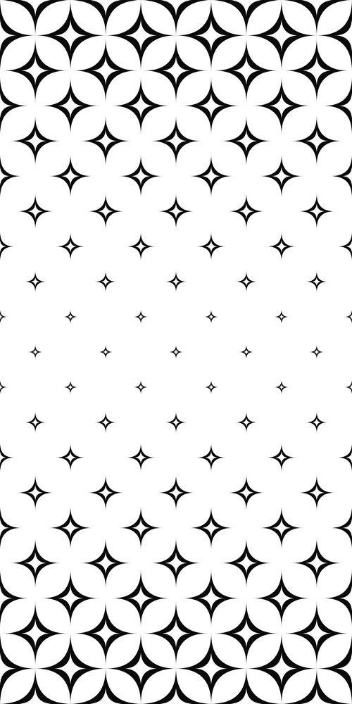 Monochrome seamless curved star pattern