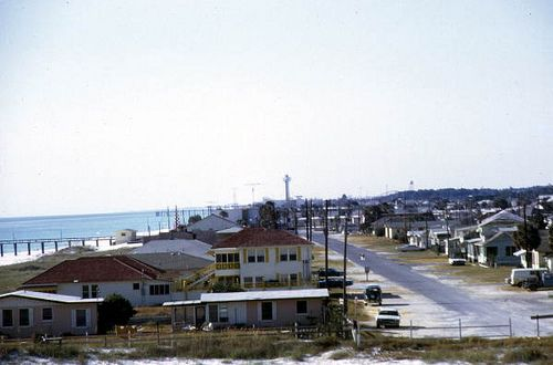 Thomas Drive residential area Panama City Beach, Florida, 1970's by stevesobczuk, via Flickr