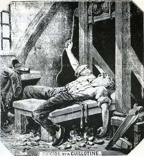 Illustrated Police News | Illustrated Police News – Suicide by a Guillotine