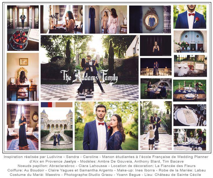 Inspiration Famille adams réalisée par Ludivine , Sandra , Caroline , Manon  étudiantes à l\u0027