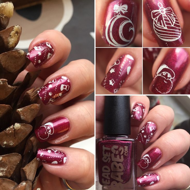 @DeadSetBabes.com stamped med @ColorClubUK Chalk It Up Stamping plate for Born Pretty