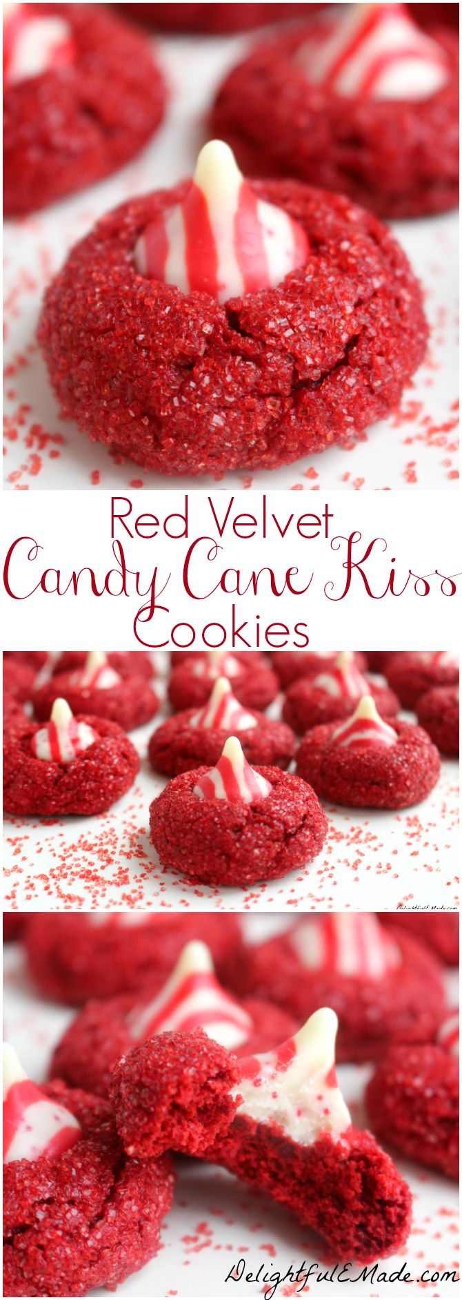 With a pretty sparkle and topped with a candy cane kiss, these fabulous holiday cookies will be the star of your holiday season!