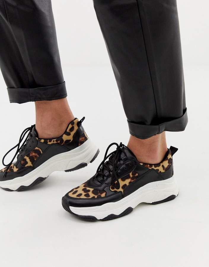 ab4a68f50e77 Public Desire leopard print chunky sneakers | Patterns and Prints ...