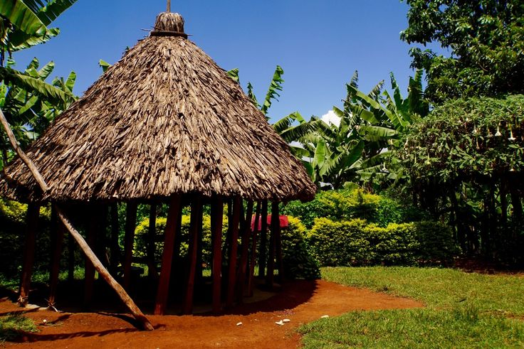 Cottage made by natures' own materials. Uganda.