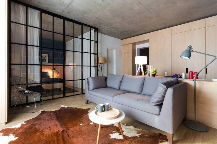 Фото из статьи: Модная квартира: кухня, гостиная, столовая и спальня на 50 метрах