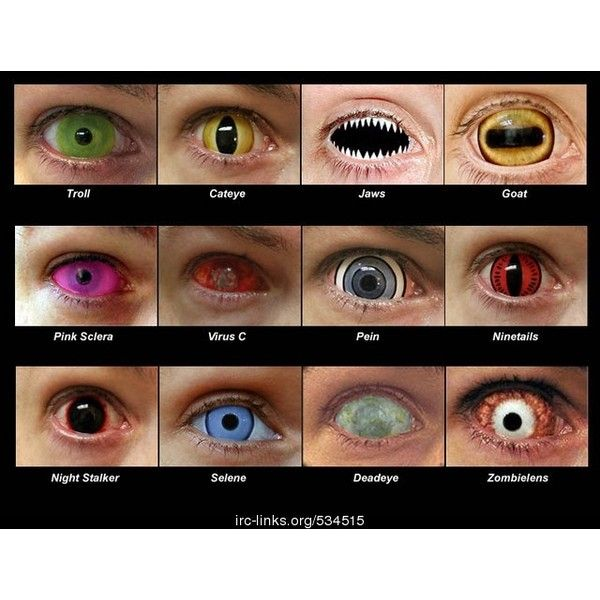 Naruto Contact Lenses ❤ liked on Polyvore featuring eyes, contacts and naruto