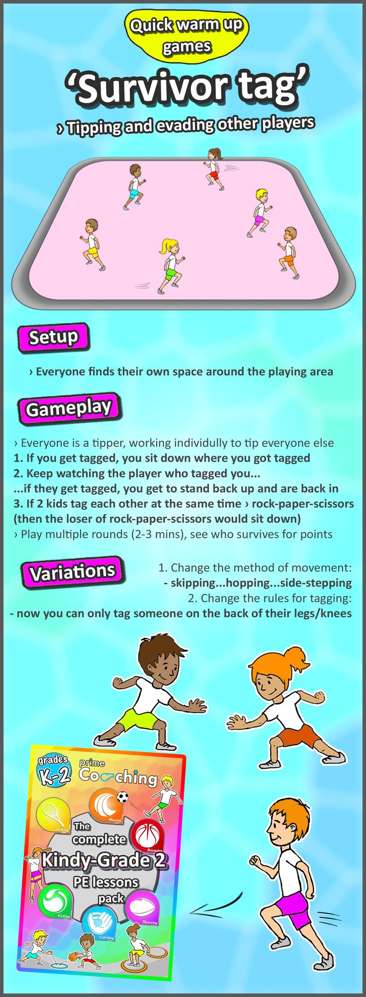 Tag/lesson plans - Kindergarten To Grade 2 Pe Games Complete Sport Skill And Games Pack 2017