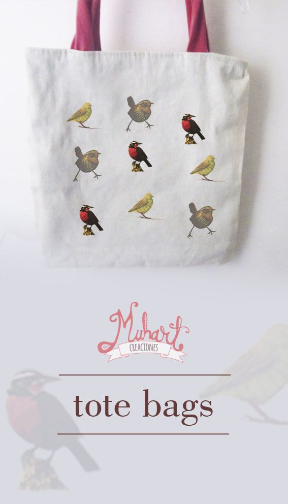 tote bag chucao - chirihue  birds