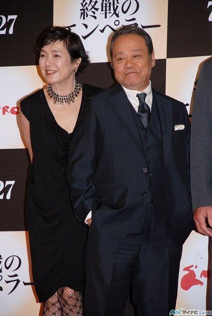 Kaori Momoi and Toshiyuki Nishida - Emperor press conference from 7/18/13 - Tokyo