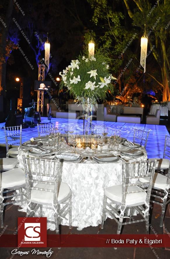 Ideas de bodas - Montaje blanco Paty  Elgabri