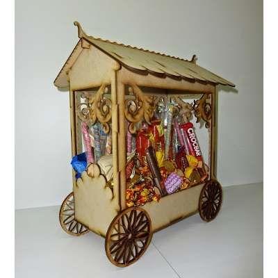 Candy bar kiosco golosinas fibrofacil mdf medidas 42 cm for Kiosco bar madera
