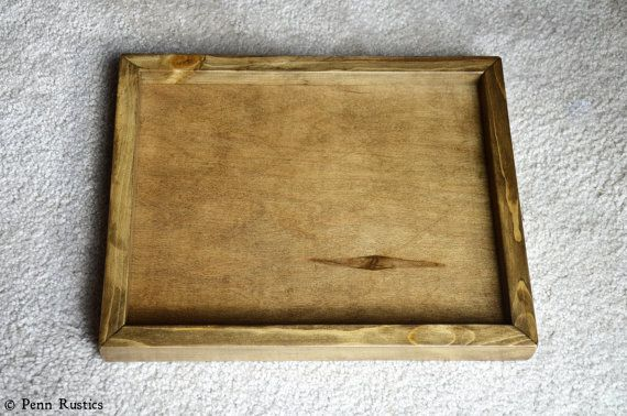Everyday Rustic Wood Paper Tray by PennRustics on Etsy