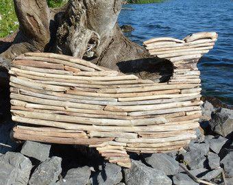 Driftwood Seahorse Wall Decor Handmade by LumberCityDesign