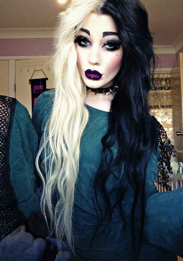 Half Purple Half Green Hair Www Imgkid Com The Image Kid Has It