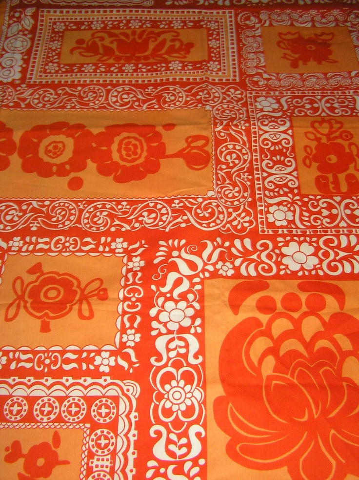 Tampella fabric  Rosmariini by Marjatta Metsovaara.
