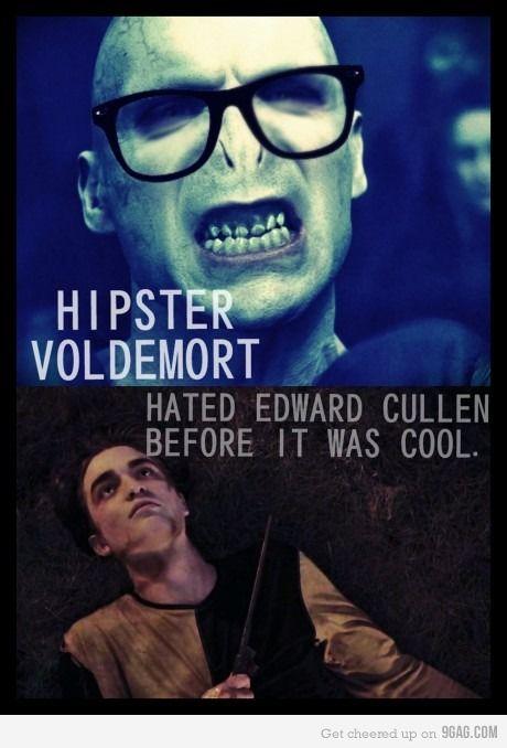 Haha :): Nerd, Laugh, Stuff, Harrypotter, Edward Cullen, Hipster Voldemort, Funny, Harry Potter, True Stories