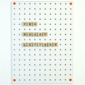 360 best block design pegboard images on pinterest for Large pegboard letters