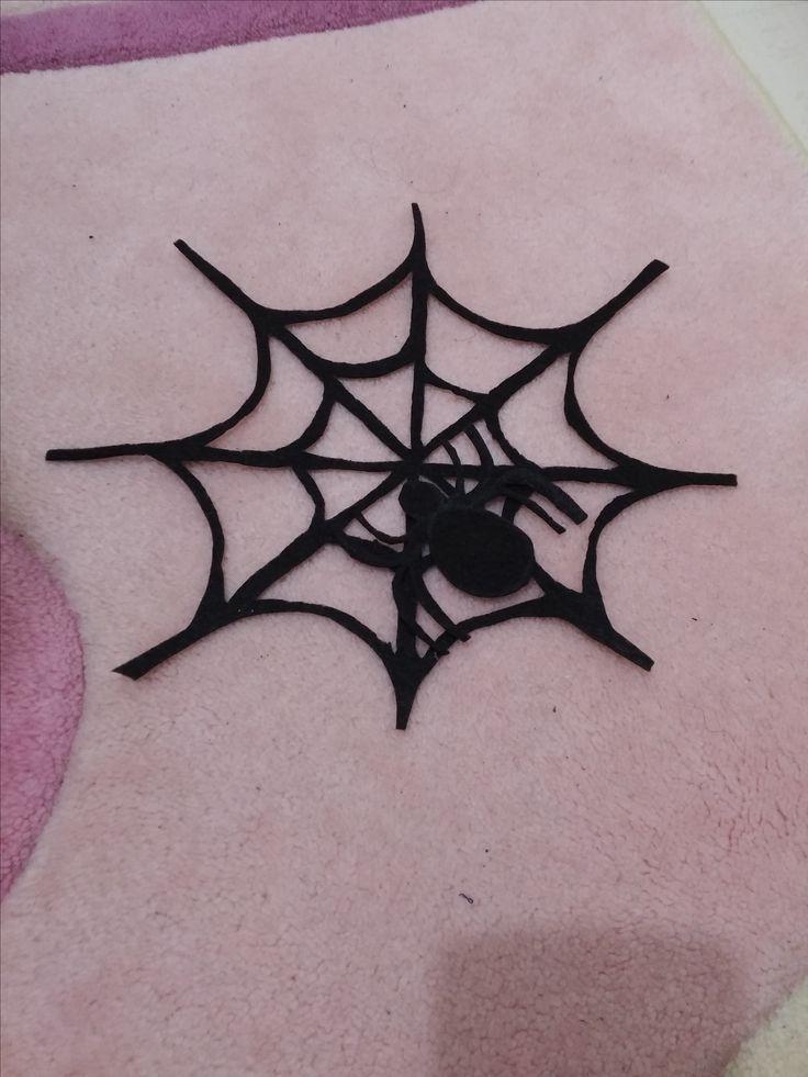 Keçe örümcek ve örümcek ağı