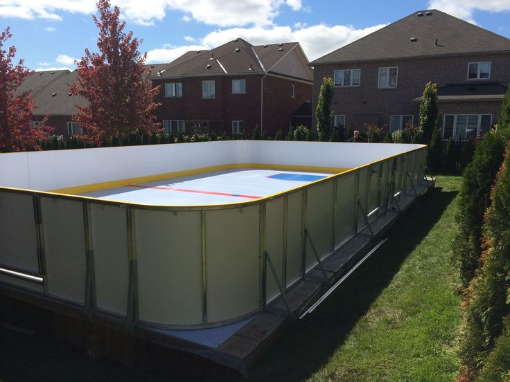Synthetic Ice Rink, Hockey, Backyard, Patio, Ice Hockey, Field Hockey,  Tuin, Backyards