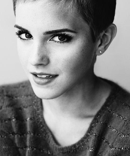 Emma Watson short hair pixie cut