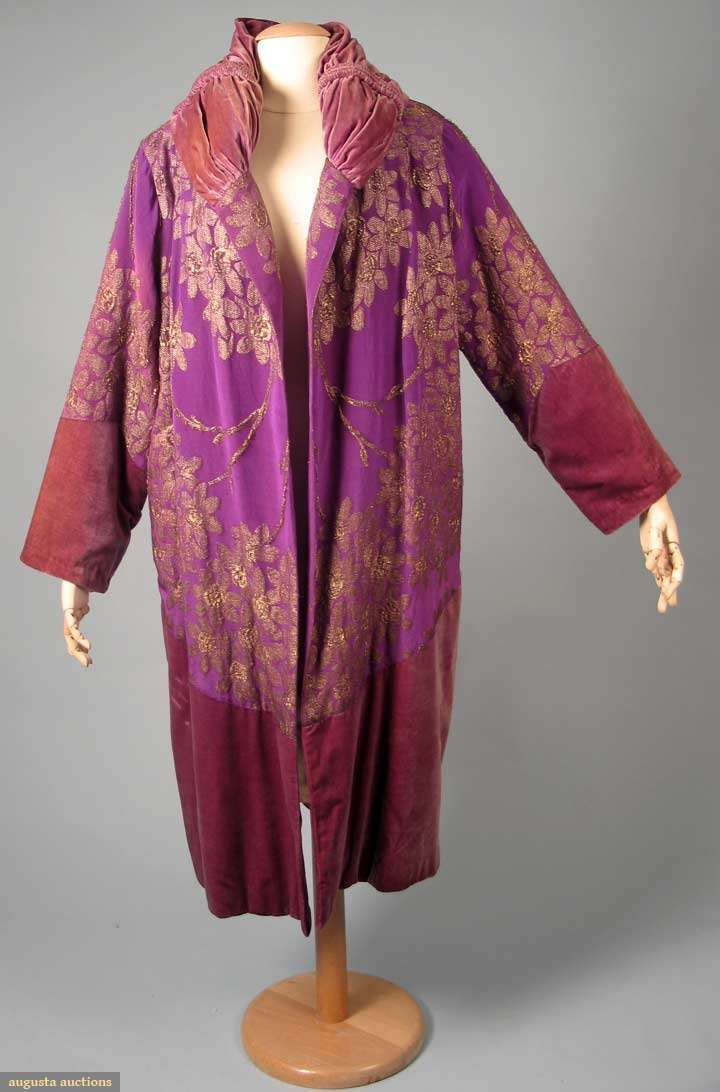 Purple & Gold Lame Opera Coat, 1920s, Augusta Auctions, November 10, 2010 - St. Pauls - NYC, Lot 271