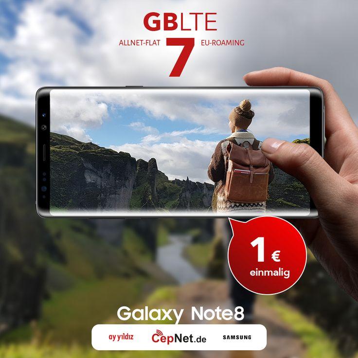 🔥🔥🔥 Samsung Galaxy Note 8 64GB mit günstigem ay yildiz Ay Allnet Max + Ay Allnet Vertrag  👉👉 https://www.cepnet.de/smartphones/samsung/galaxy-note-8/?utm_source=cepnet_sosyal&utm_medium=sosyal&utm_campaign=note8    ✅Telefonie-Flat* in alle dt. Handy-Netze  ✅Telefonie-Flat* ins dt. Festnetz  ✅Telefonie-Flat* ins türkische Festnetz  ✅Internet-Flat* 6 GB mit bis zu 21,6 Mbit/s (danach Drosselung auf 56 kbit/s)  ✅EU Roaming Flat** EU-weit surfen & telefonieren…
