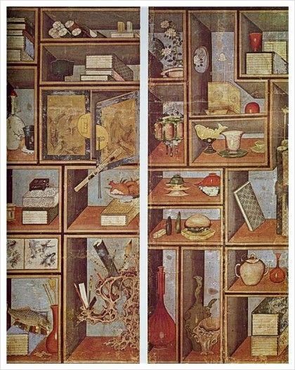 책가도(冊架圖) 19세기 전기 35.8x58.2 책가도 19세기전기 34.8x66.9 연화책가도 19세기전기 35.8x58.2 공...