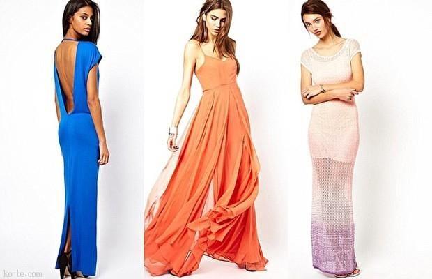 Купить красивое макси платье