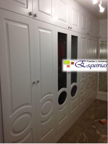 Carpintería especializada en lacados para interior, puertas, armarios a juego con sus puertas blancas...  http://www.puertasyventanasesquivias.com/frentesdearmariosabatibles.html