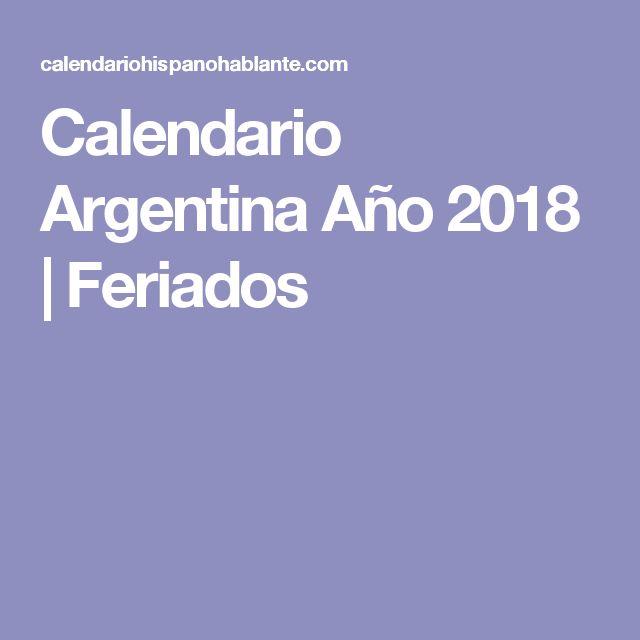 Calendario Argentina Año 2018 | Feriados