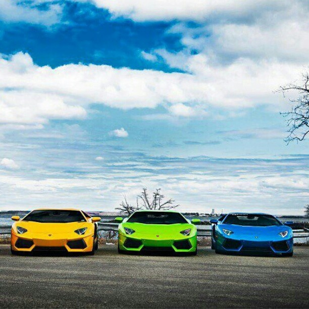 Three Lambos Getting Ready To Roar Luxury Car Lifestyle Pinterest Colors And Awesome