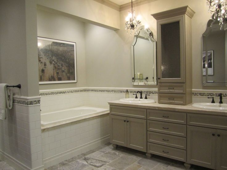 A Fusion Bathroom Masterpiece (ceramic, Glass And Travertine Tile) All In  One Bathroom