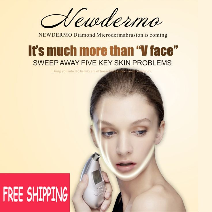 Silver High Quality NEWDERMO Skin Diamond Microdermabrasion Machine Face Massage Sauna Steamer FREE SHIPPING