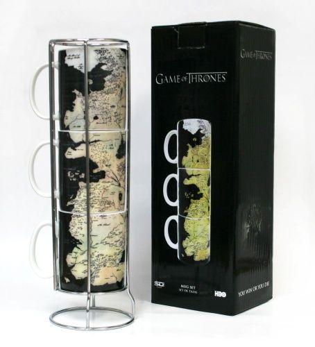 Mug set- Westeros map/stackable - Merchandise - Game Of Thrones - Musikk - CDON.COM