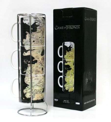 Mug set- Westeros map/stackable - Merchandise - Game Of Thrones - Musikk - CDON.COM