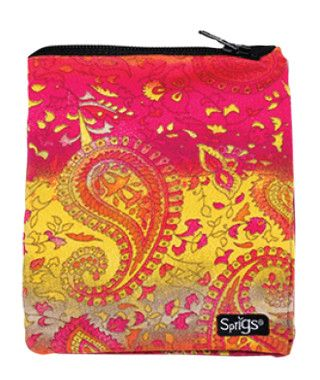 classic banjees: Yellow Paisley/Pink