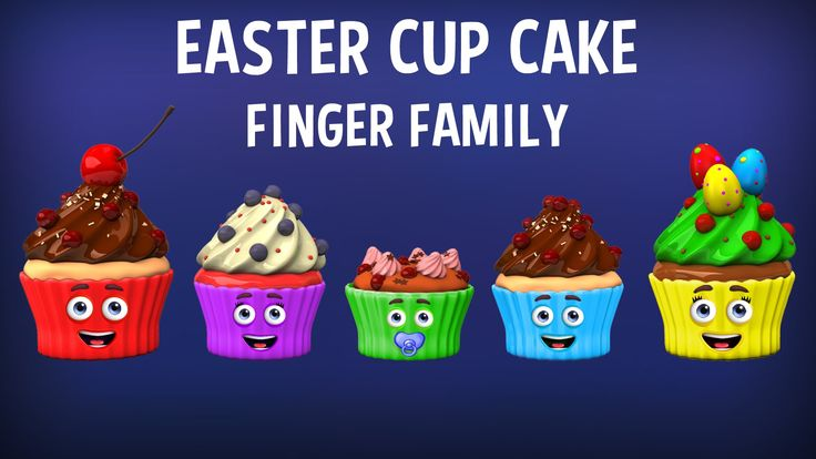 The Finger Family Easter Cup Cakes Family Nursery Rhyme | Easter Finger Family Songs