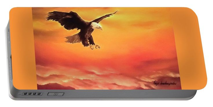 Portable Battery Charger,  orange,cool,beautiful,fancy,unique,trendy,artistic,awesome,fahionable,unusual,accessories,for,sale,design,items,products,gifts,presents,ideas,eagle,wildlife