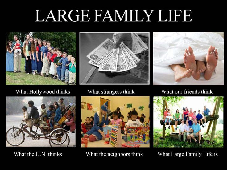 Funny answers to questions about your big family.  I only have 3 but admire those who have the courage and everything else to have a big family.