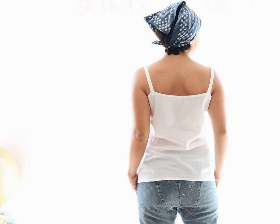 Woman camisole finest batiste 100% cotton tank top. by bymamma190