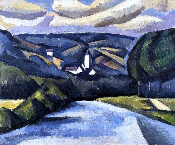 The Road, La Ferté-sous-Juarre Roger de la Fresnaye - 1911