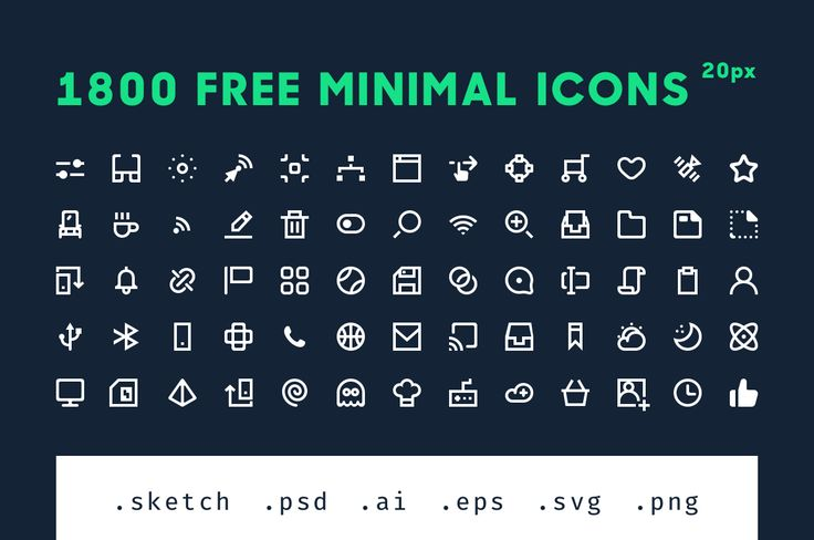 1800 Free Minimal Icons  by Alexandru Stoica on @creativemarket