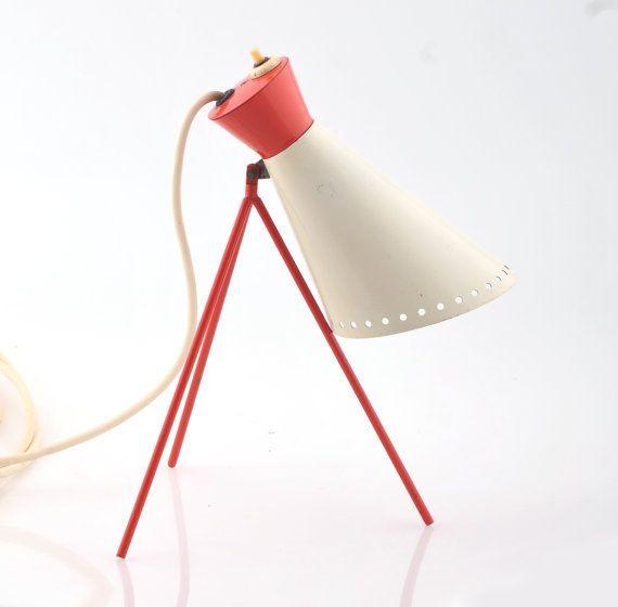 Vintage Modernist Lamp Napako 1618 designed by Josef Hurka