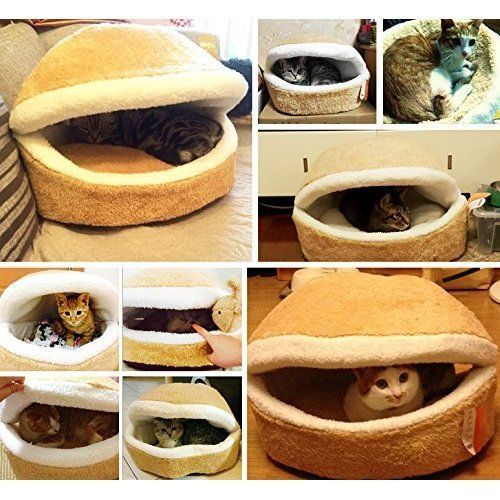 Cat Kitty Pet Bed House Shell Nest Cave Soft Windproof Waterproof Ultra Warm  #CatPetBed