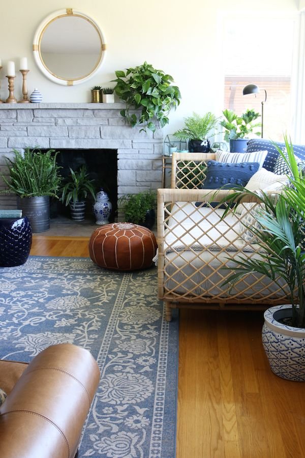 Our Rattan Daybed Cozy Corner with a